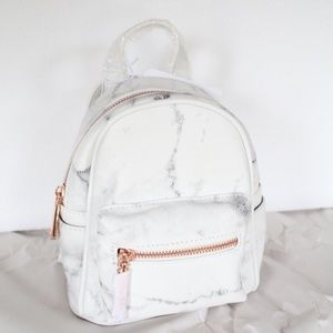 938543d707 Bags - Marble and Rose gold Mini small backpack New!